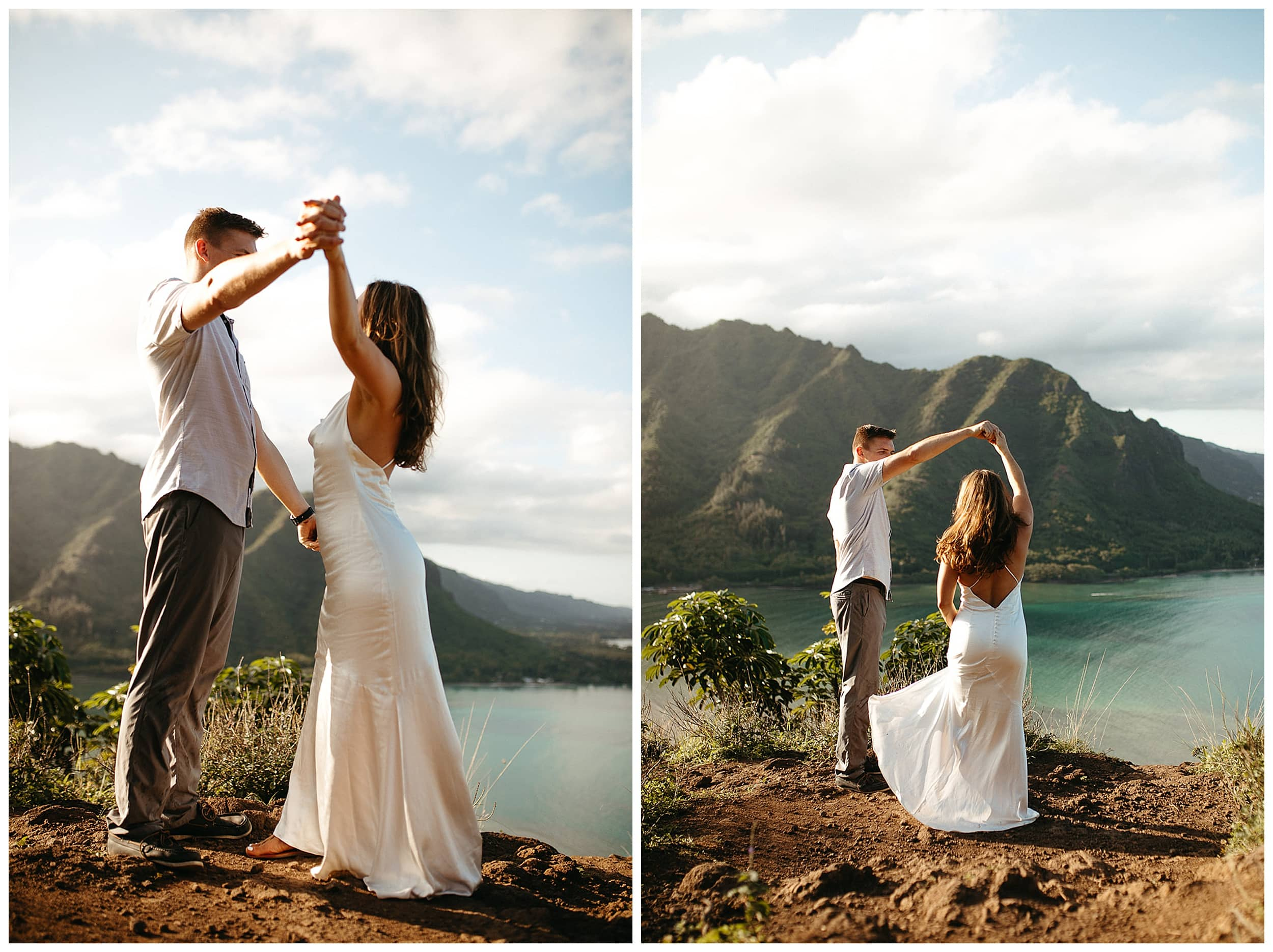 couple dancing at crouching lion in oahu
