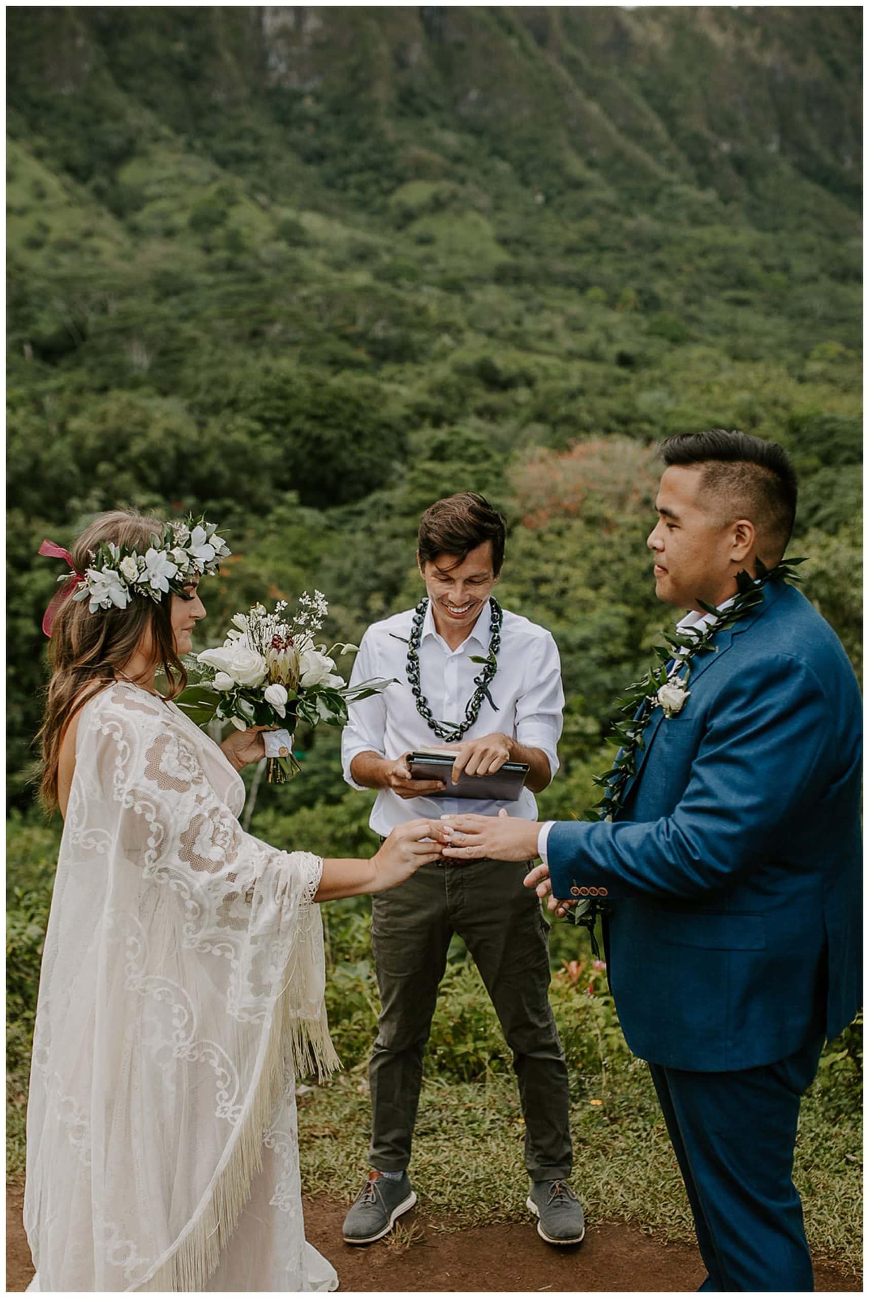 wedding at Ho'omaluhia Botanical Garden