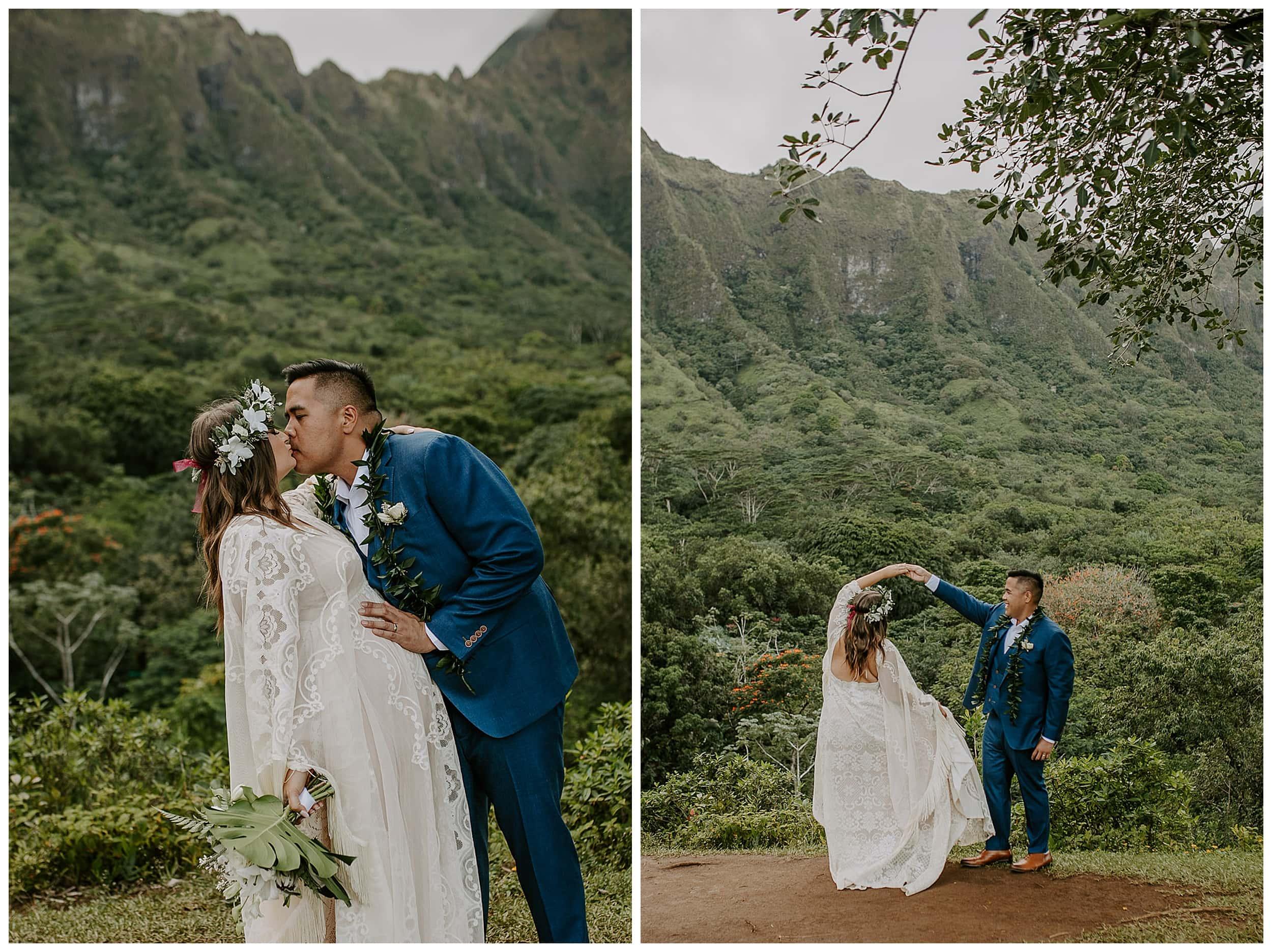 elopement at Ho'omaluhia Botanical Garden