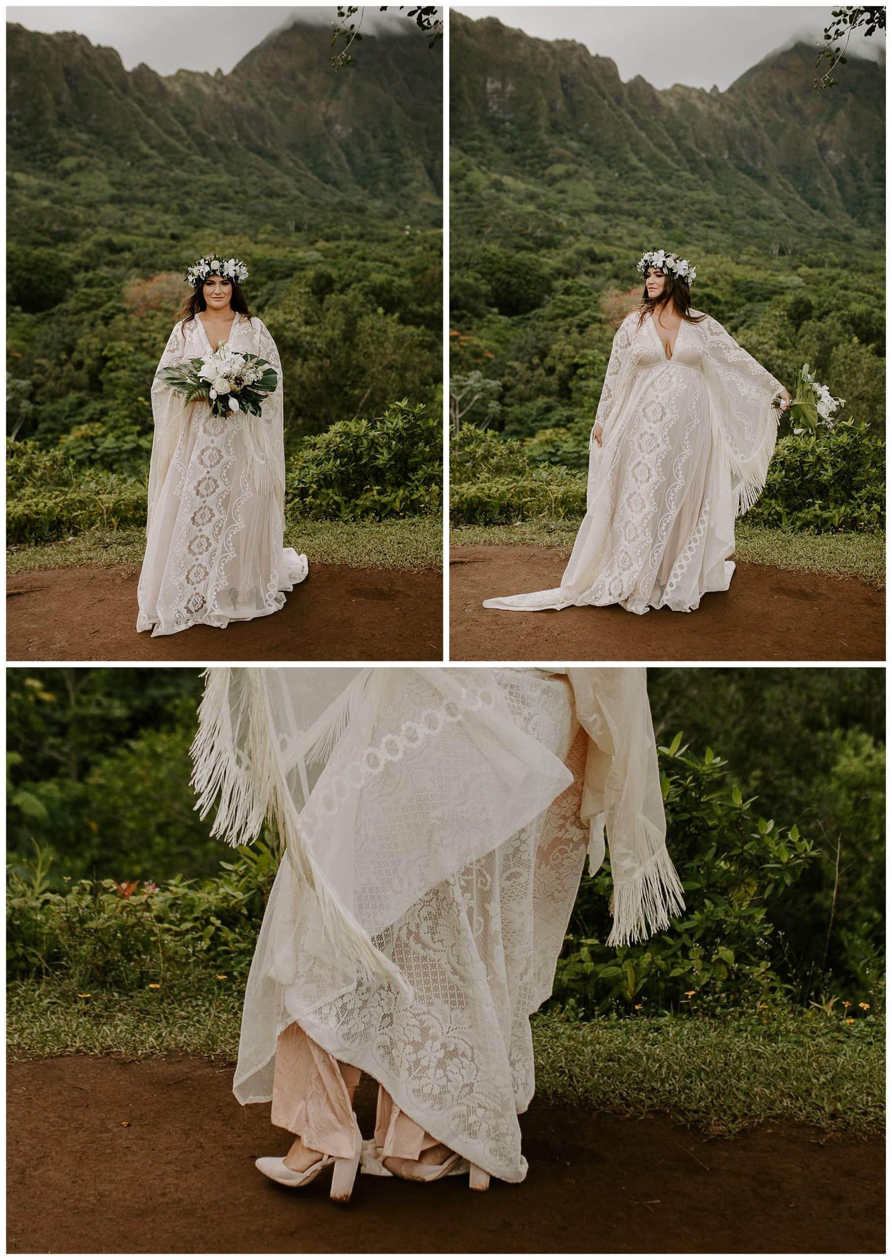 hawaii bride at Ho'omaluhia Botanical Garden