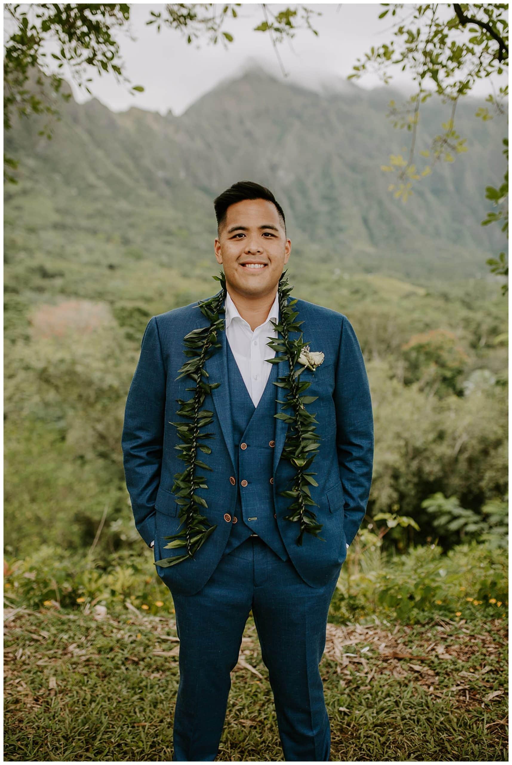 groom at Ho'omaluhia Botanical Garden