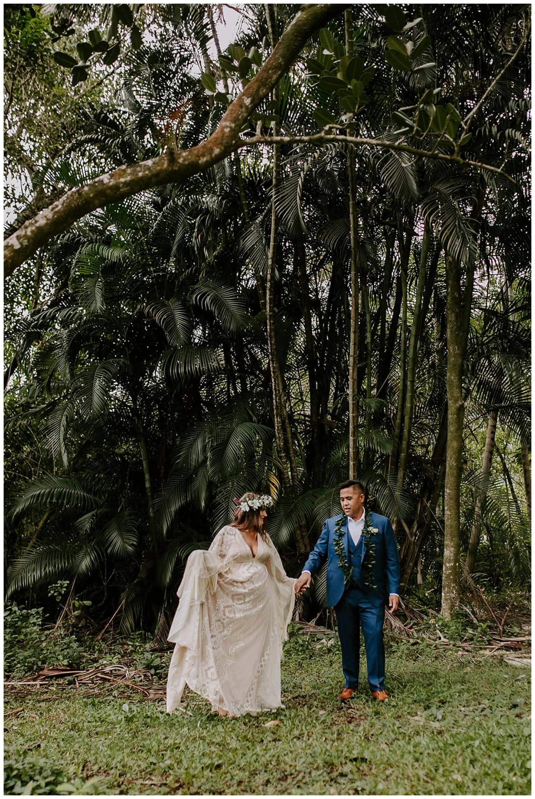 destination elopement at Ho'omaluhia Botanical Garden