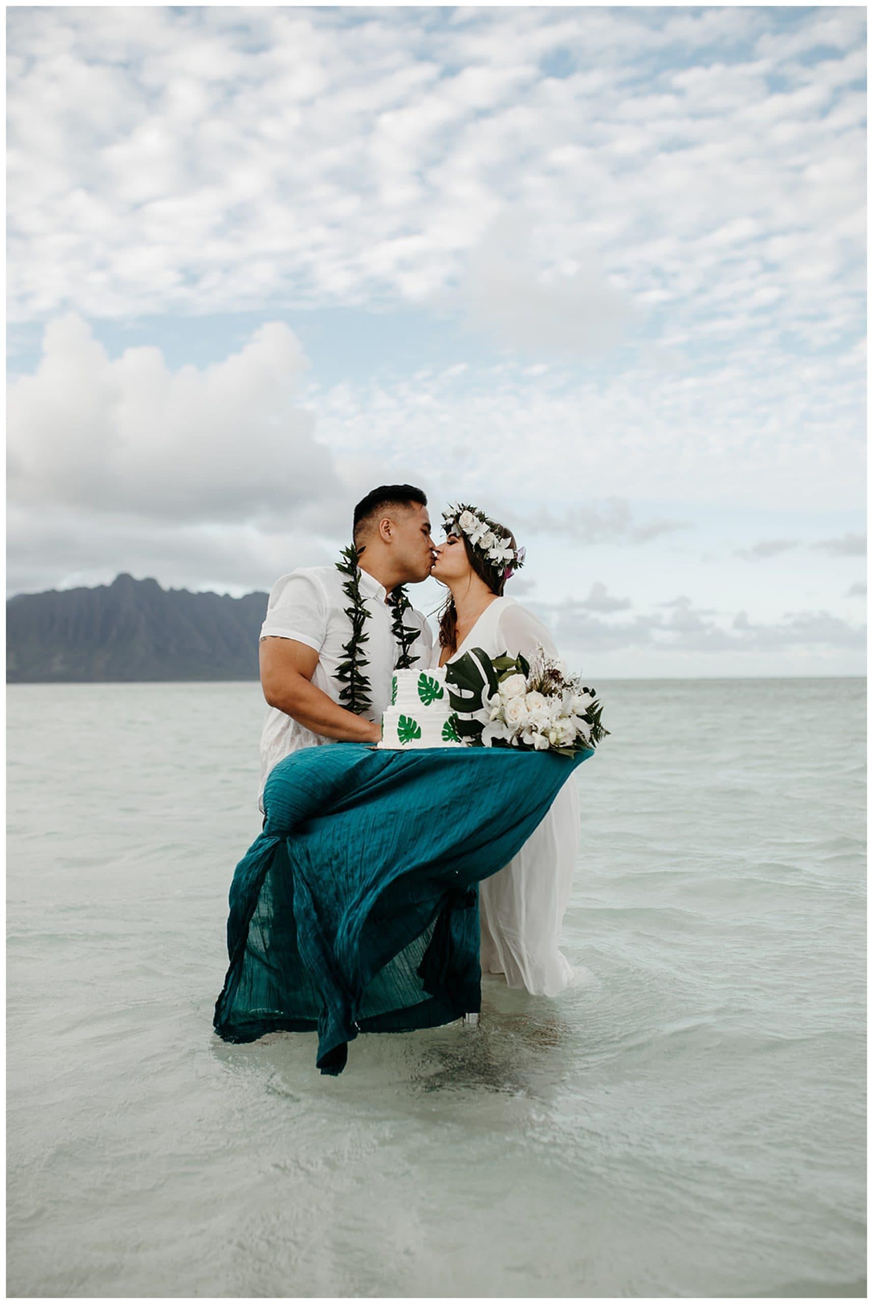 destination wedding at Kaneohe Sandbar
