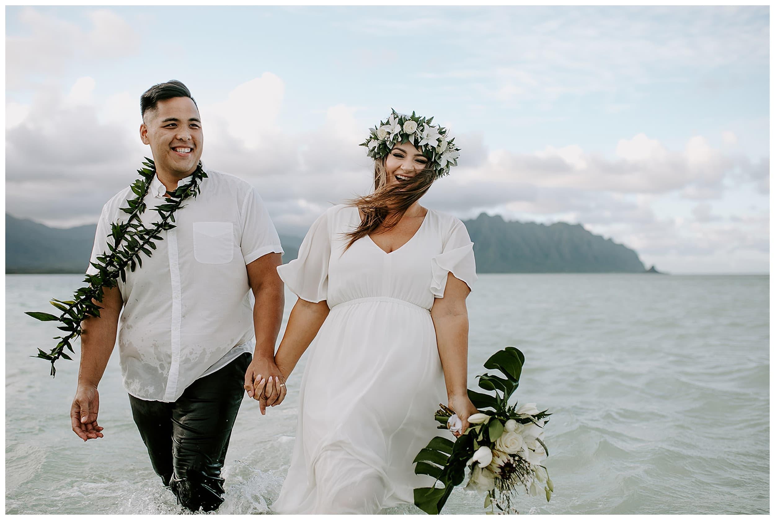 elopement at Kaneohe Sandbar