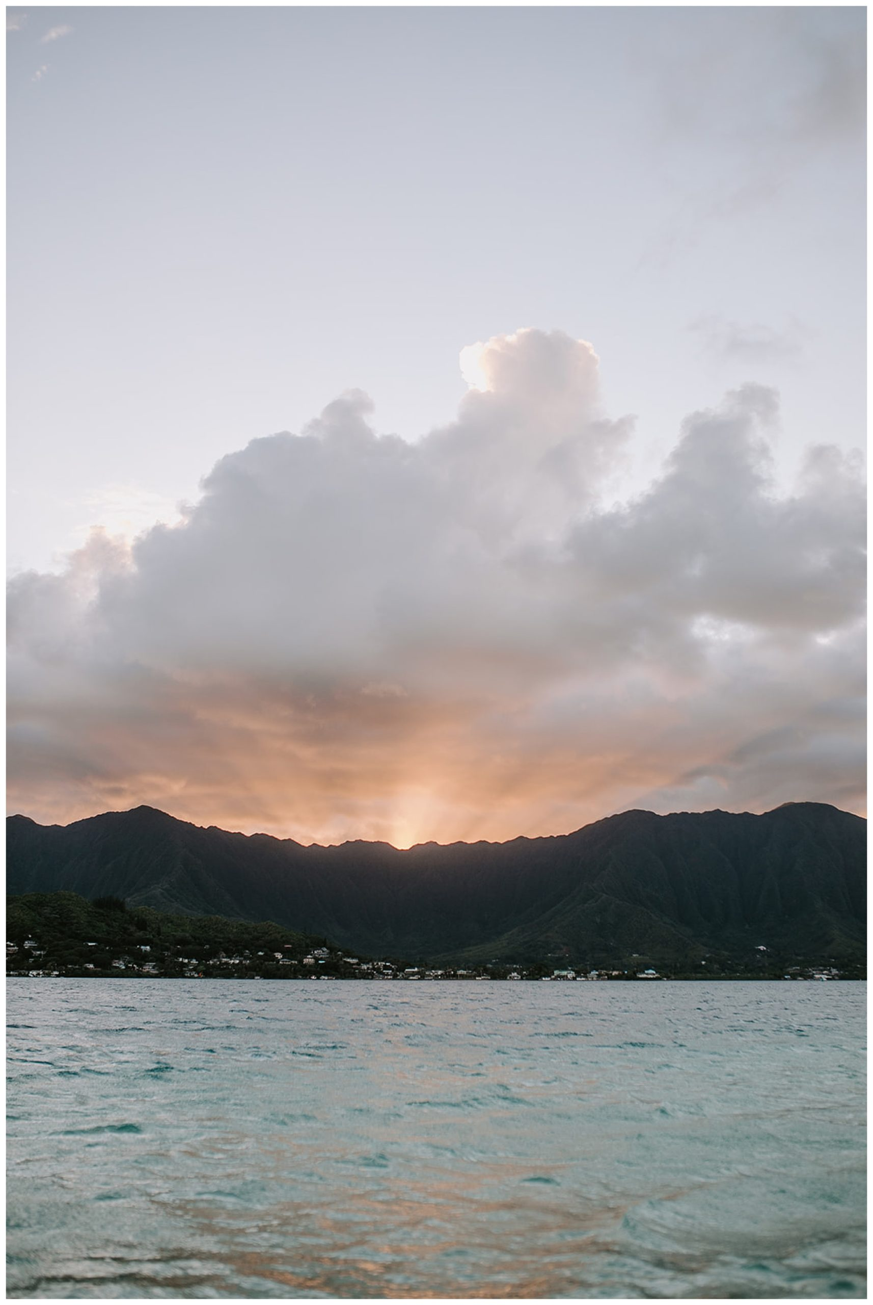 hawaii sunset at Kaneohe Sandbar
