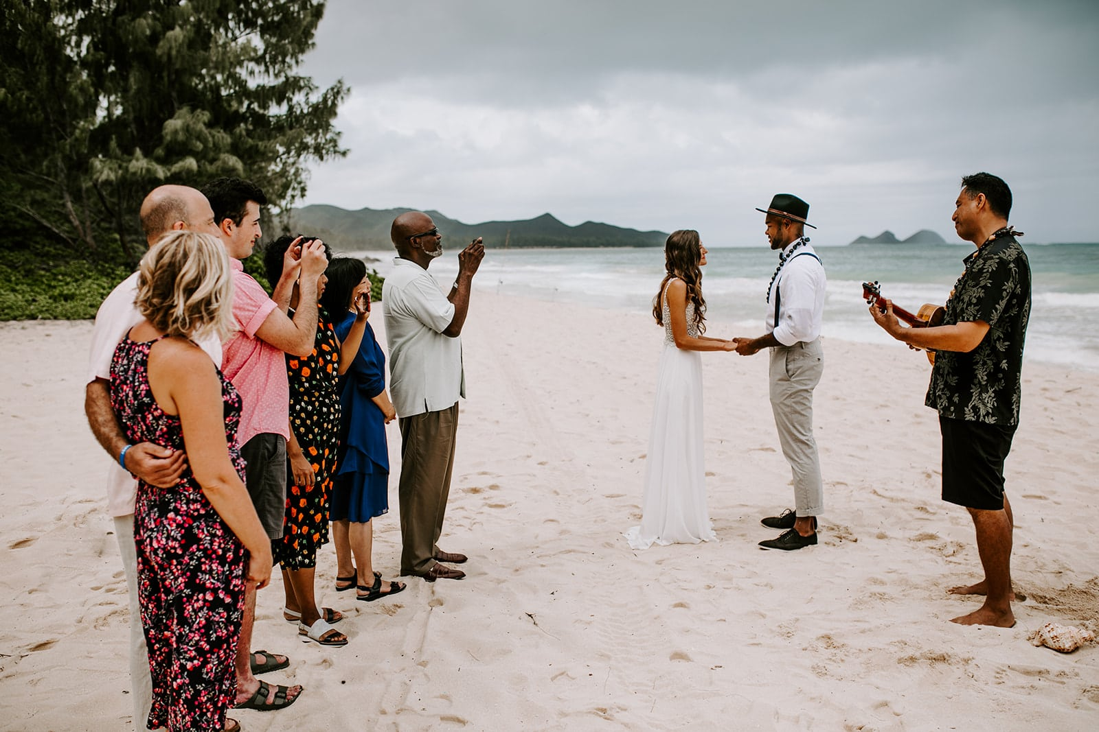 couple getting married on the beach