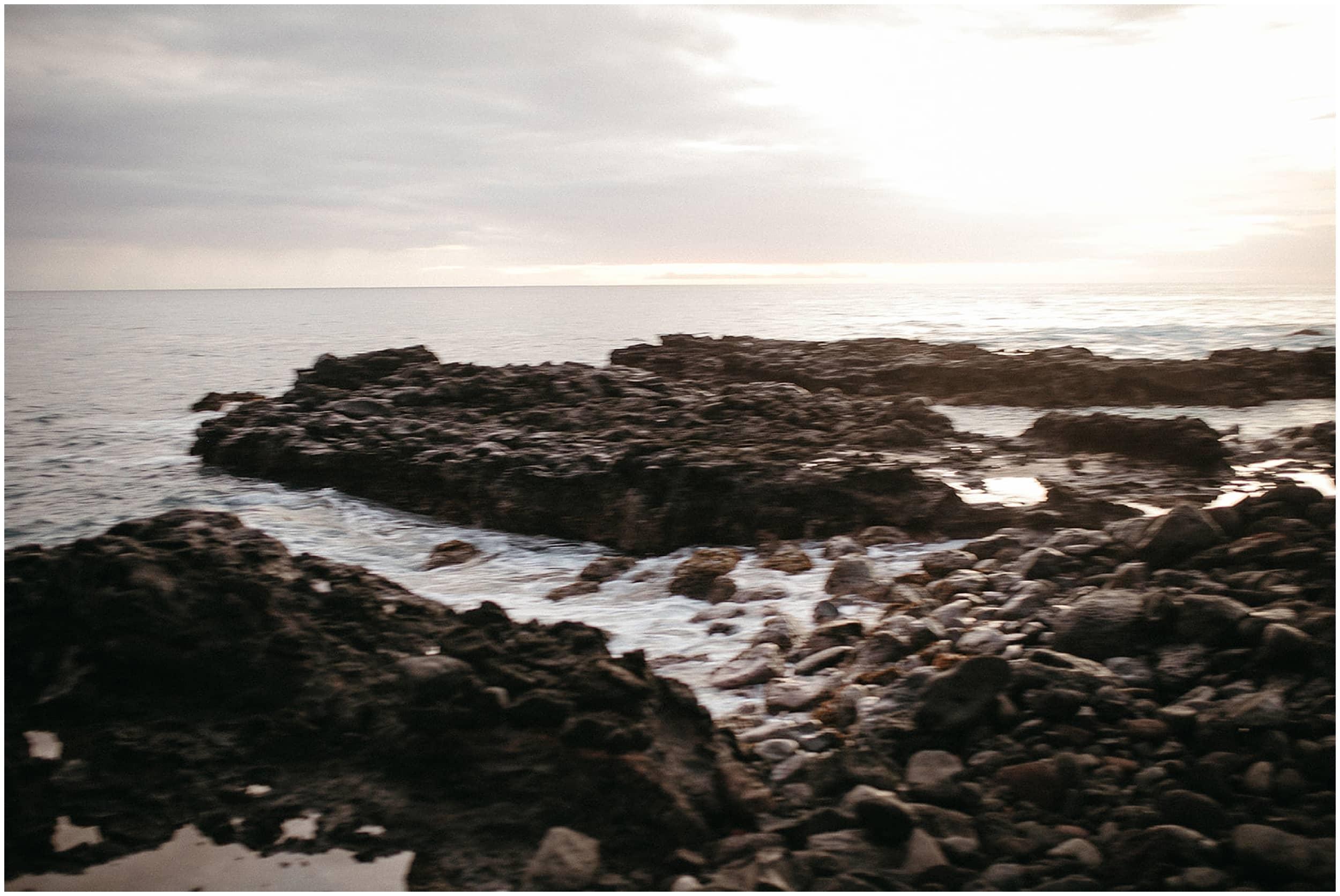 rocky beach on oahu