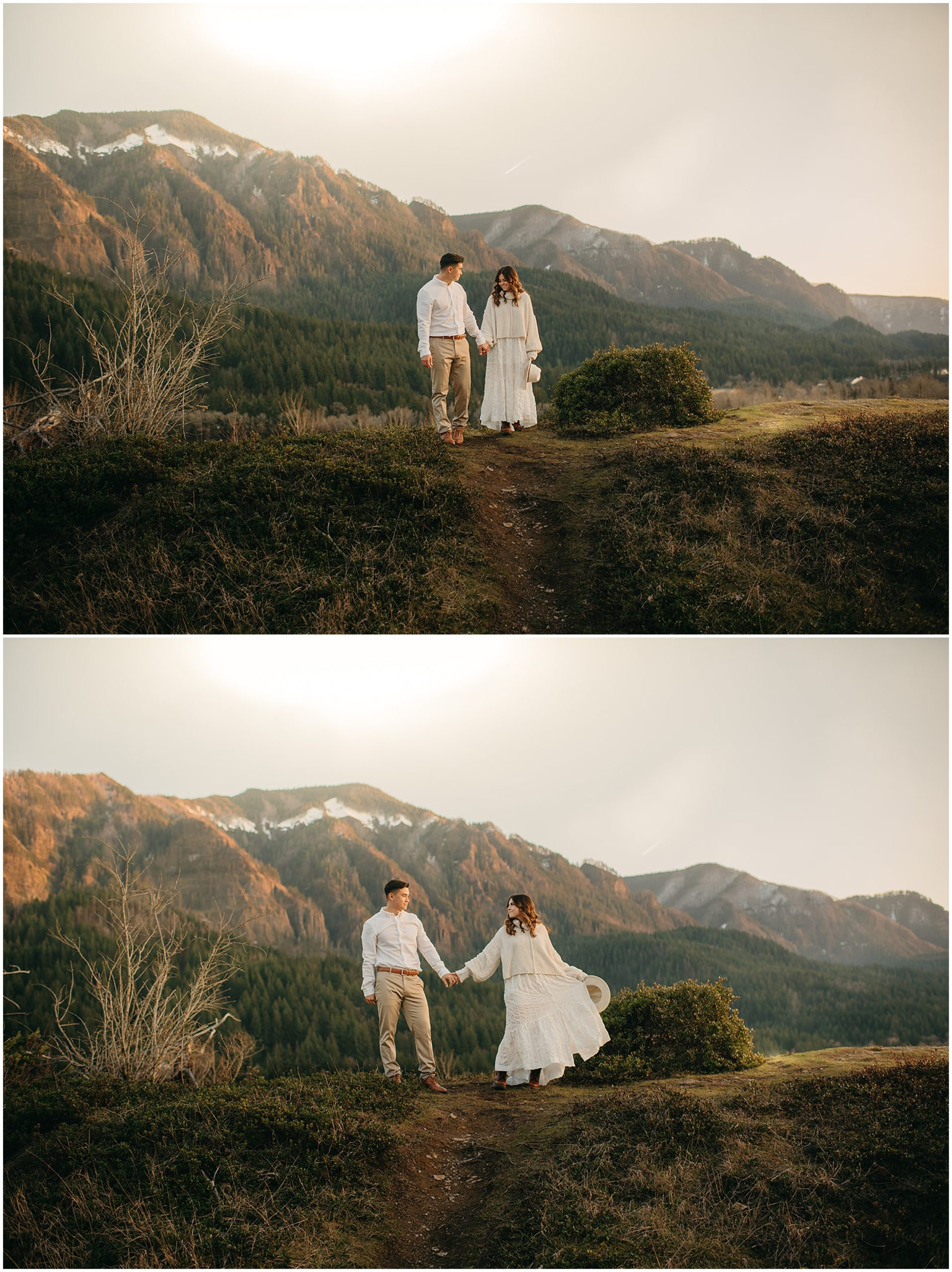 couple looking over mountains