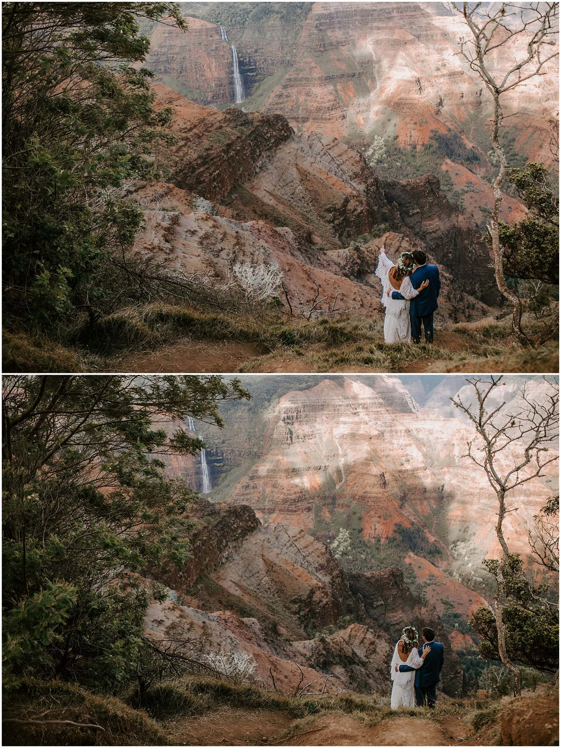 waimea canyon elopement
