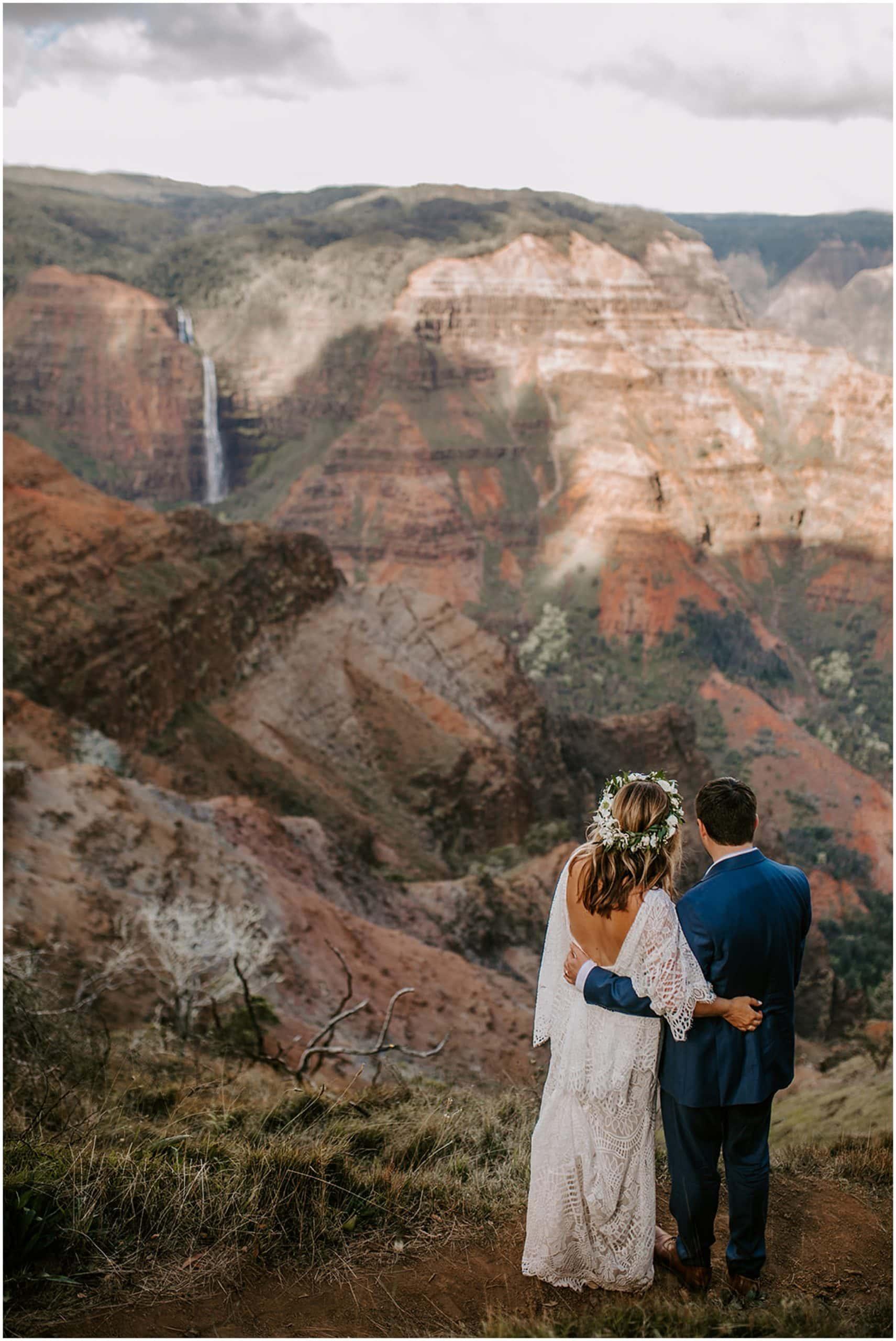 elopement at waimea canyon