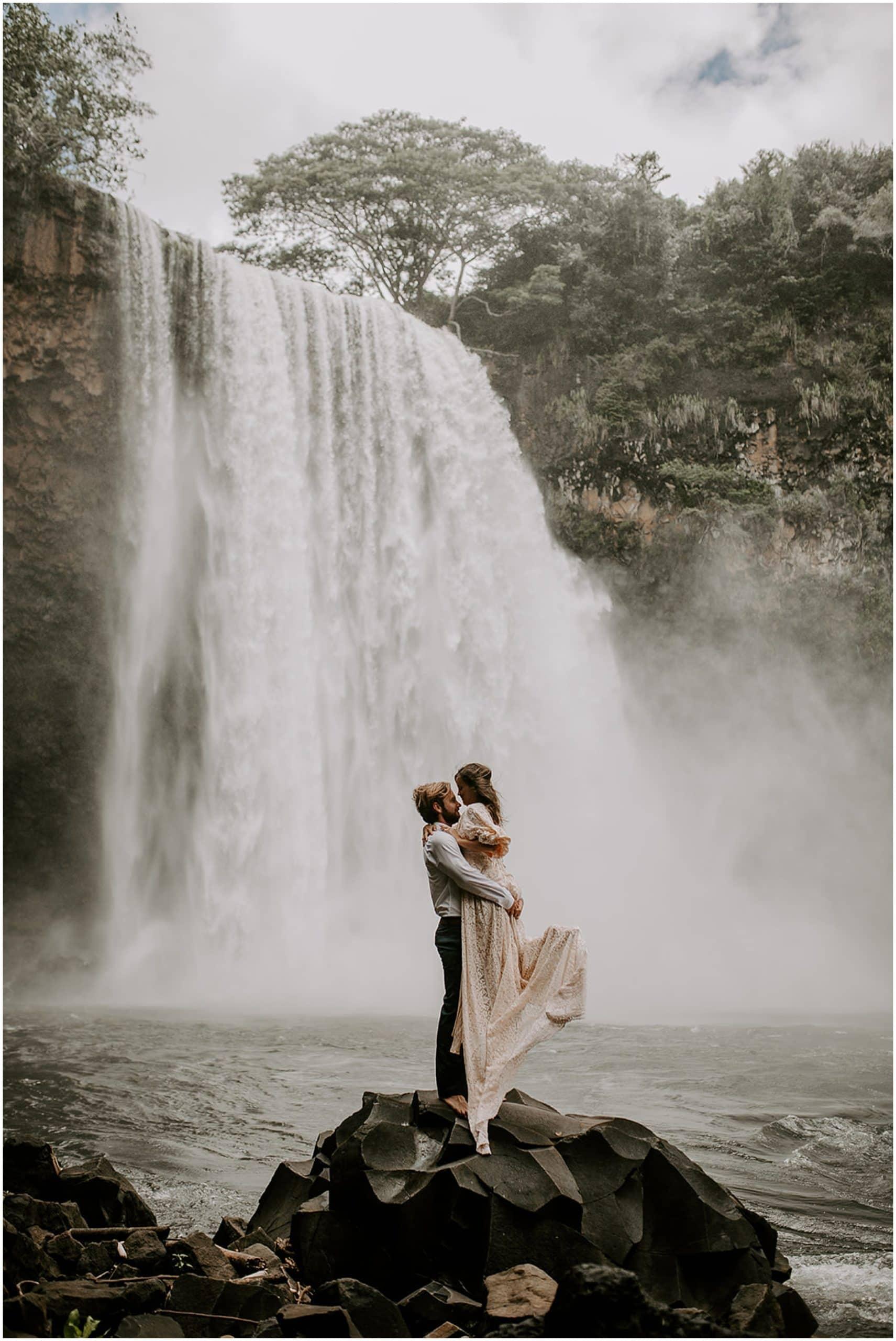 elopement at waterfall