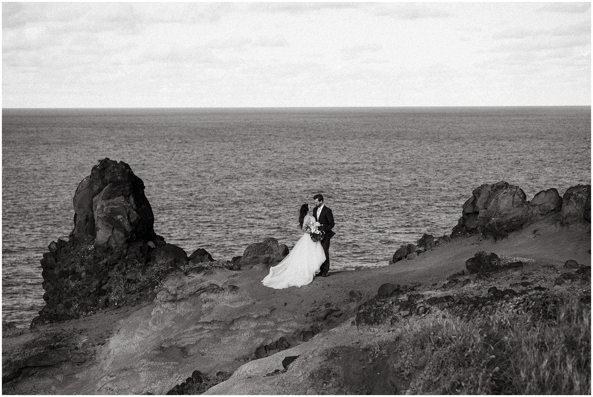 wedding on cliffs