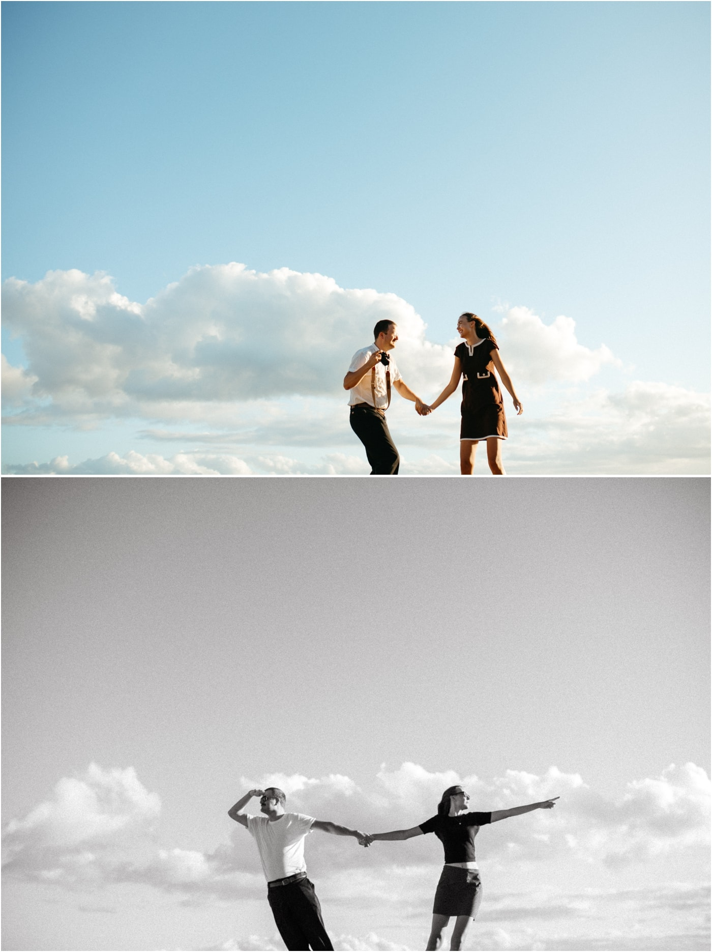Editorial and modern couples session photography