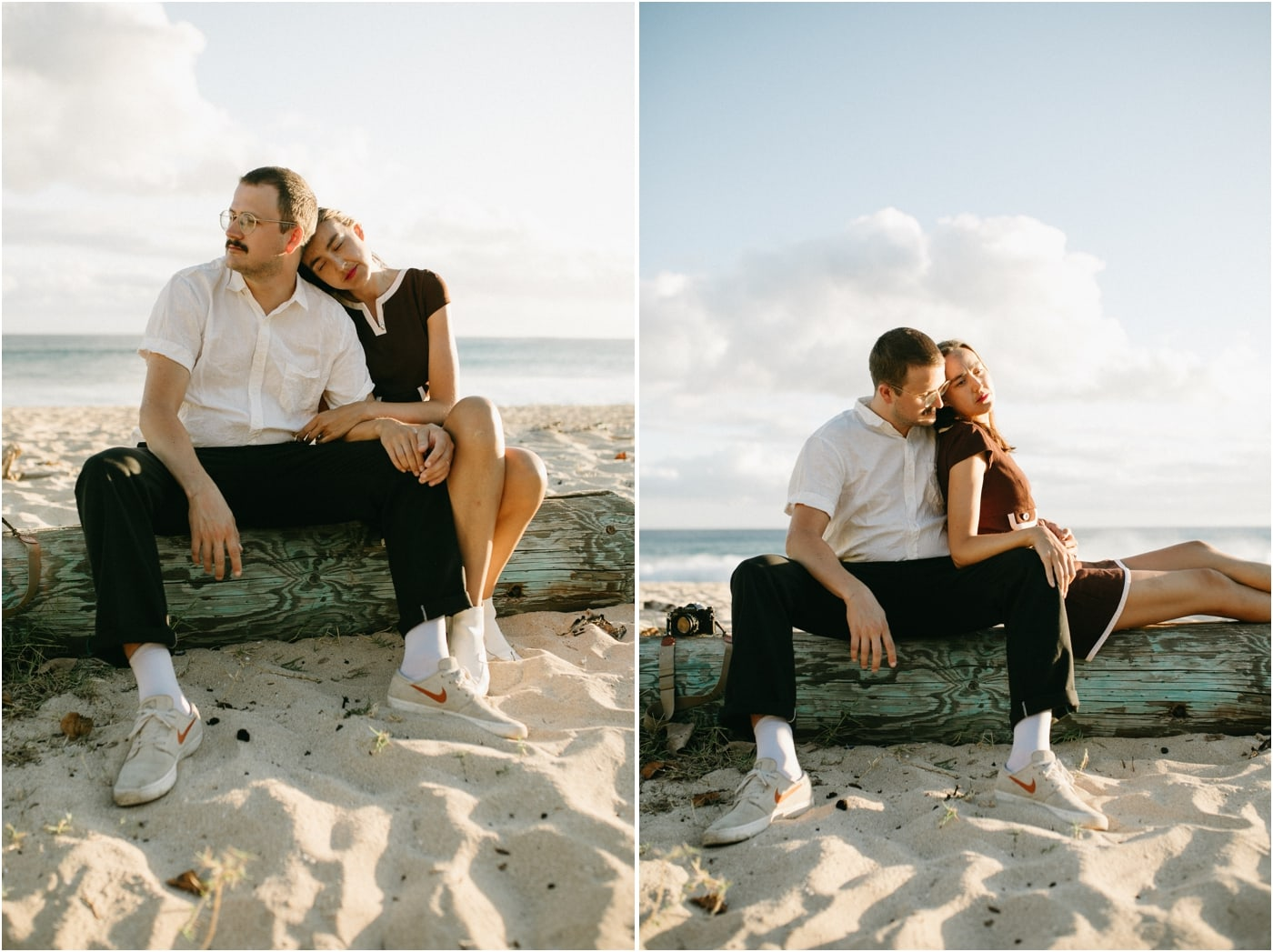 Vintage-inspired editorial couples session in Oahu