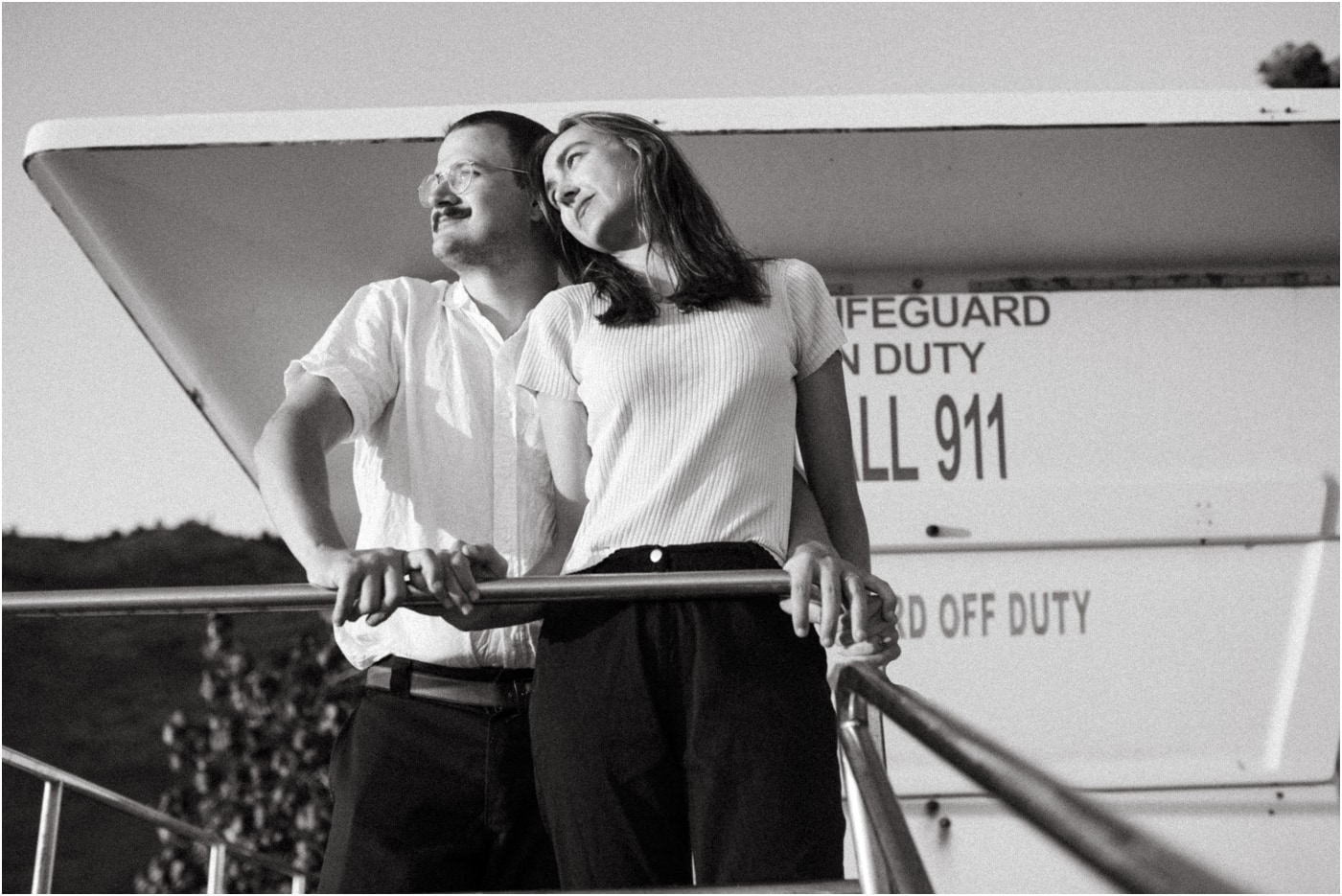 Wes Anderson inspired couples session on the beach