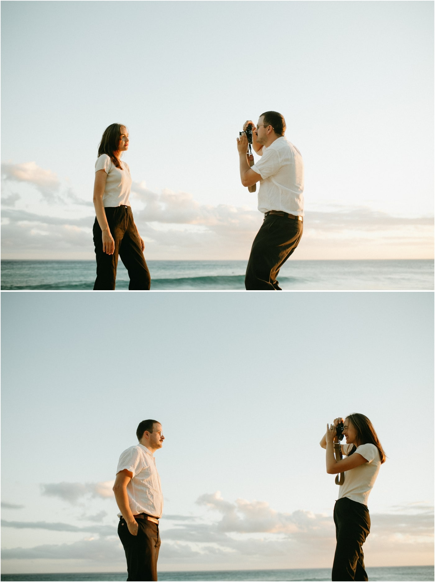 Couples session on the beach in Oahu