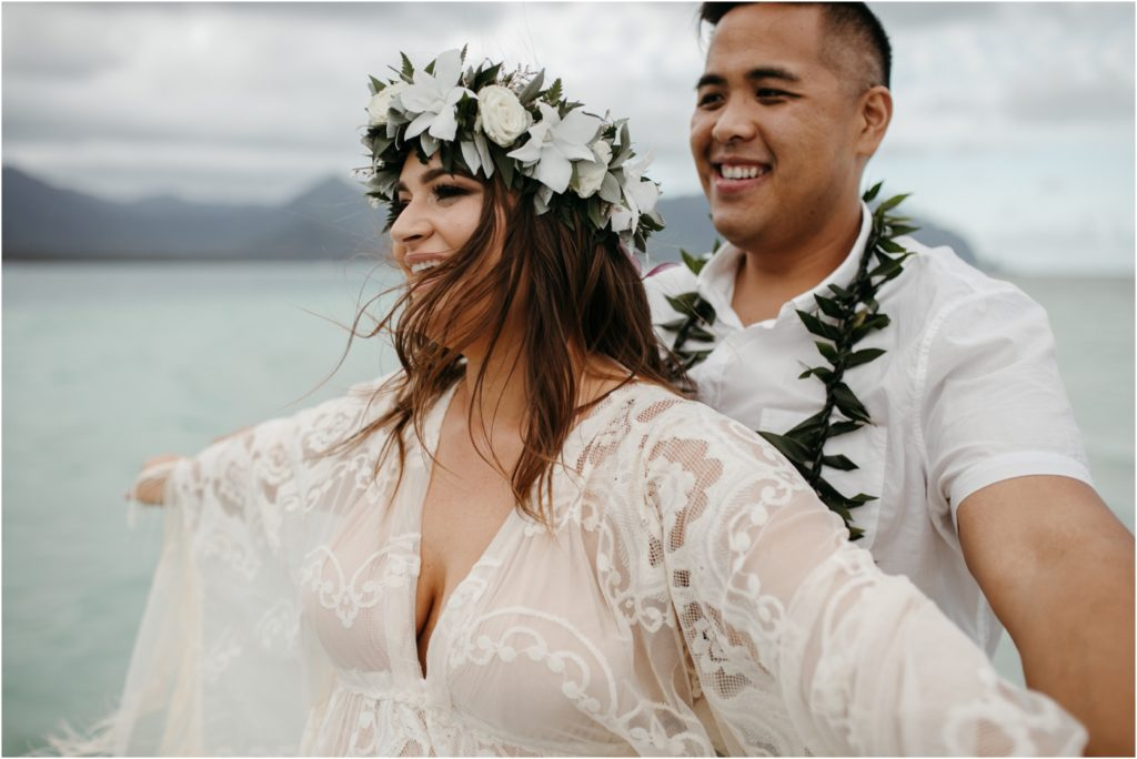 Bohemian elopement in Oahu