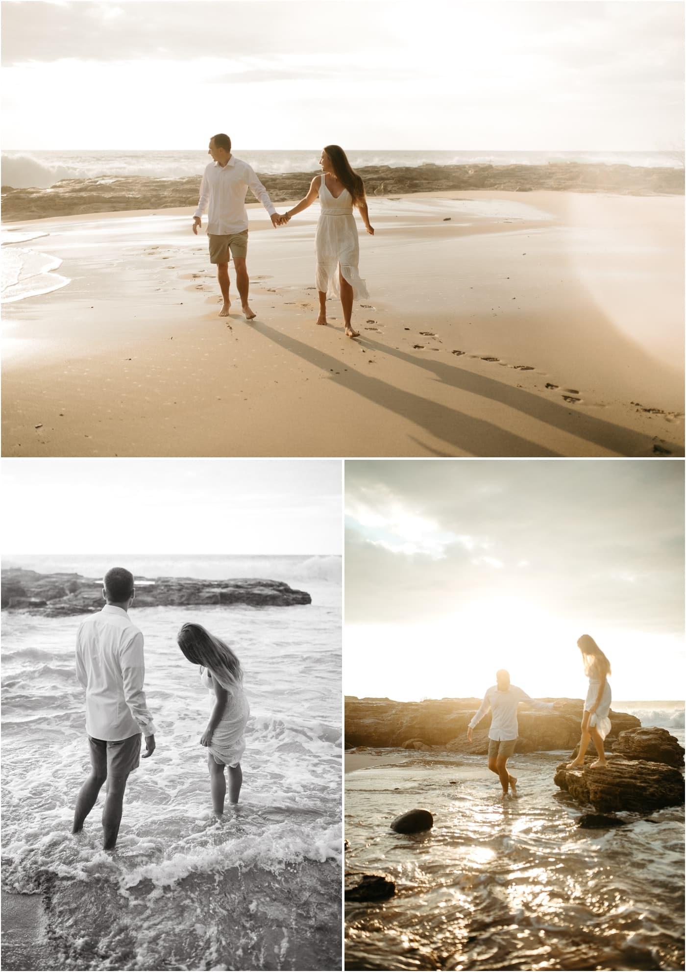 Couples session at Makua Beach