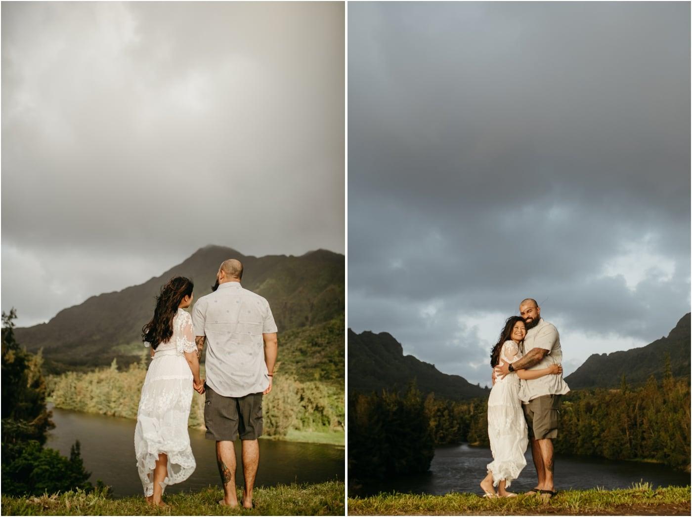 Oahu mountain couples session